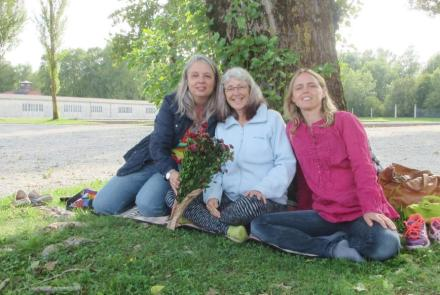 Bettina, Sue und Lisa in Dachau